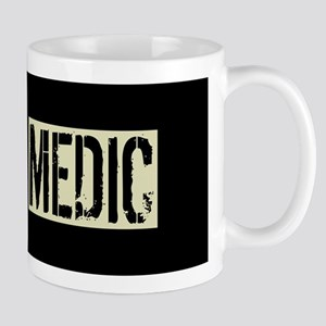 U.S. Military Medic: Black Backw 11 oz Ceramic Mug